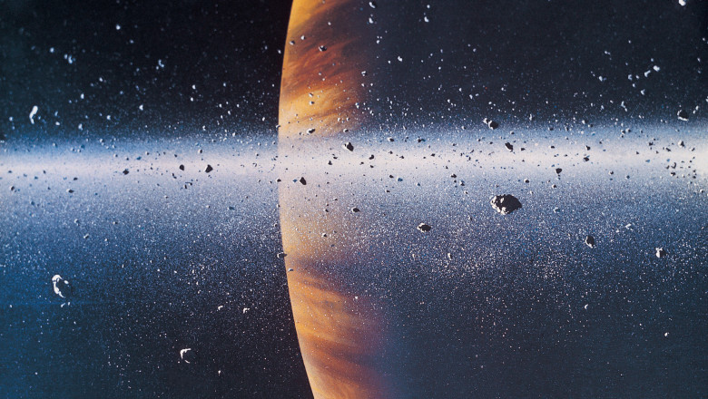 Saturn from one of its rings, Space Art