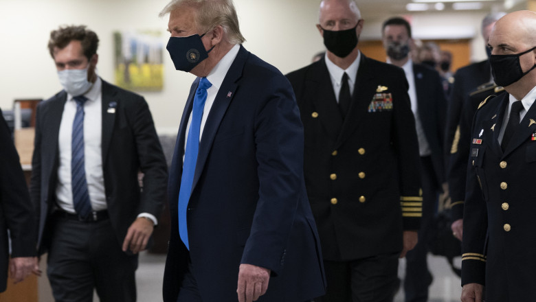 President Trump Visits Walter Reed and Wounded Military Members