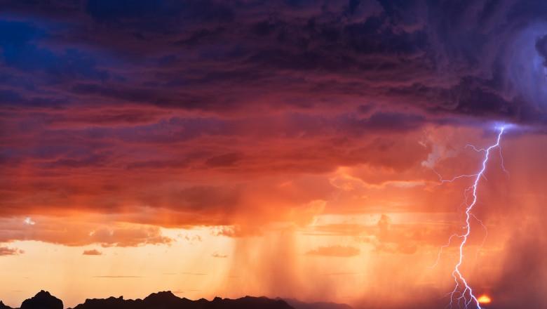 furtună, fulgere, cod galben