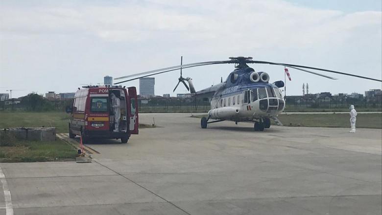 pacient covid dus cu elicopterul