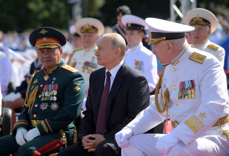 Russia Putin Navy Day Parade