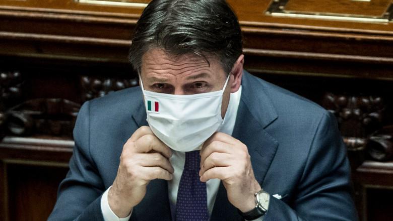 Giuseppe Conte în Parlamentul Italian