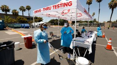 zona de testare coronavirus în California