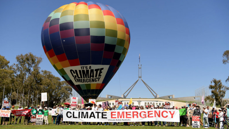 Climate Activists Rally At Parliament House