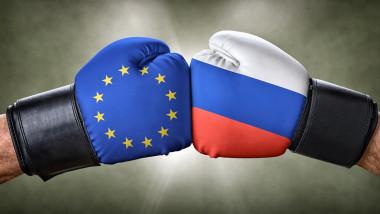 ilustratie rusia vs europa