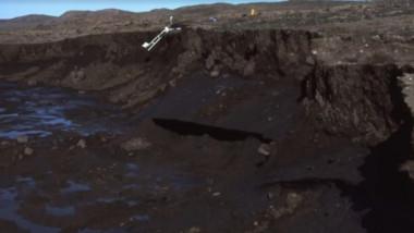 """Craterul """"Poarta Iadului"""" din Siberia se măreşte într-un ritm alarmant din cauza temperaturilor record"""
