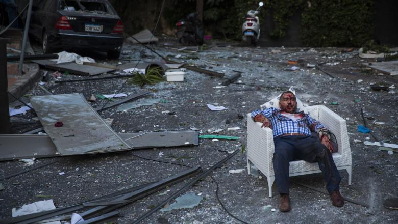 Bărbat rănit în explozia din Beirut
