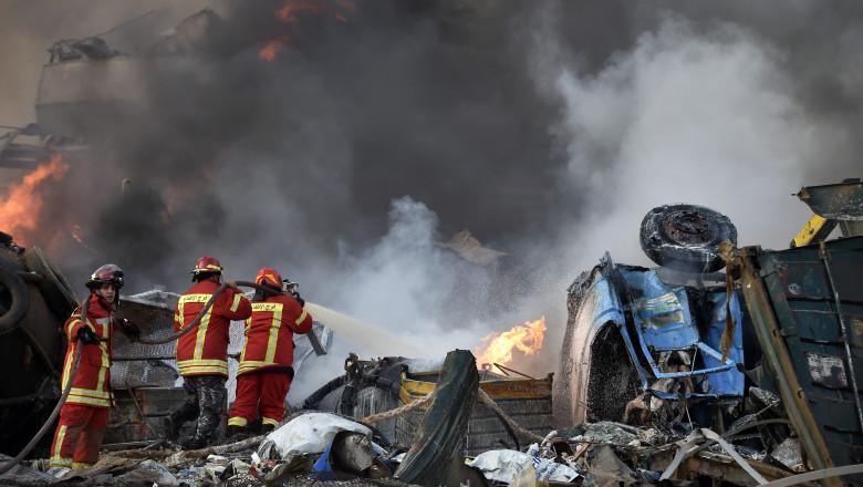 Explozie în Beirut. Străzile capitalei Libanului arată ca după bombardament