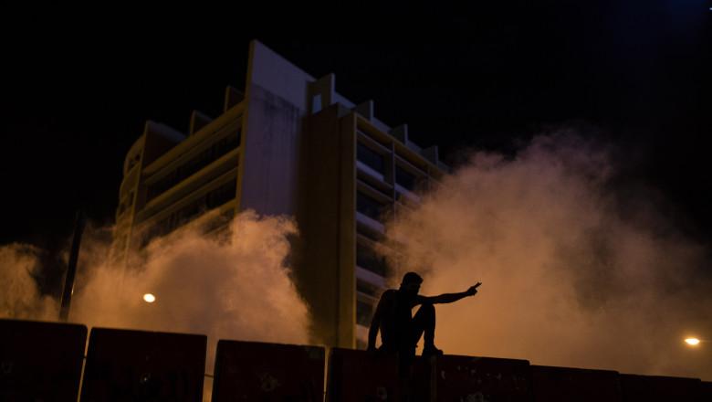 Proteste antiguvernamentale la Beirut. Manifestanții au vandalizat magazinele, iar forțele de ordine au ripostat cu gaze lacrimogene
