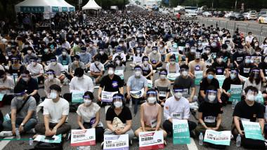 South Korea Impose Restrictions Amid The Coronavirus Pandemic