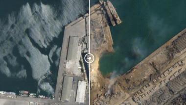 Craterul creat după exploziile de la Beirut are o adâncime de 43 de metri (sursă de securitate libaneză)