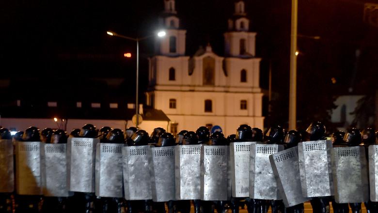 Poliția blochează o zonă din Minsk după încheierea votului din alegerile prezidențiale din 9 august