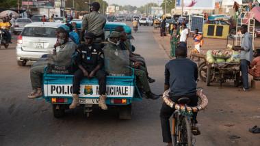 imagine de pe o stradă din Niamey, Niger