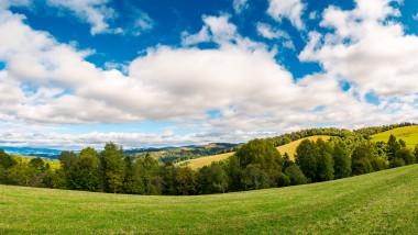 panorama of beautiful autumn countryside