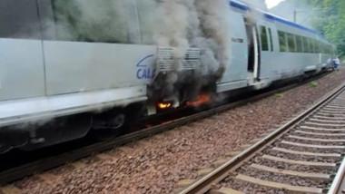 incendiu tren ruta bucuresti brasov