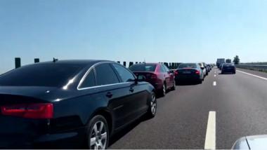 carambol autostrada soarelui a2 17 august 2020 aglomeratie masini