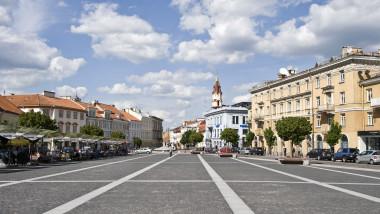 imagine din centrul orașului Vilnius, capitala Lituaniei