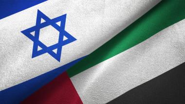 ilustrație steag Israel și Emirate