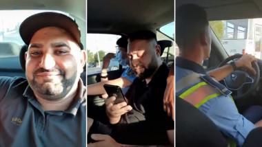 filmare in masina politiei