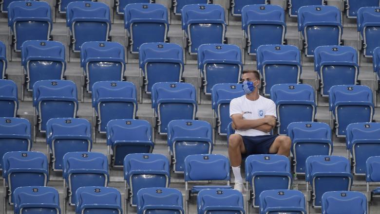 scaune goale pe stadion fotbal