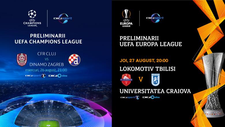 UEL si UCL Digi Sport