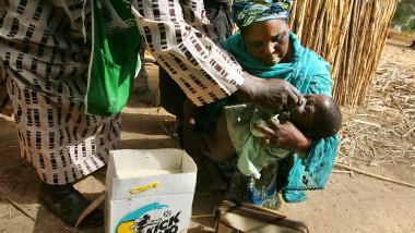 În Africa și în special în Nigeria a fost demarată o amplă campanie de eradicare a poliomielitei. Foto: GettyImages