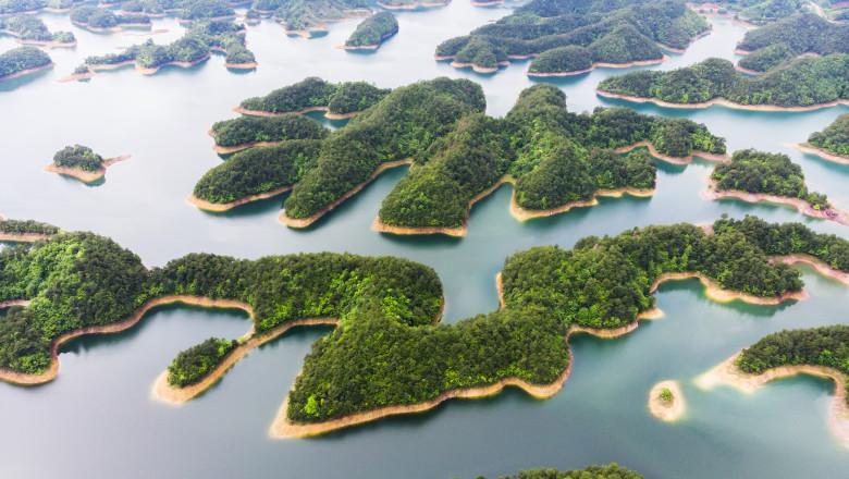 vedere aeriana a unor insule din china