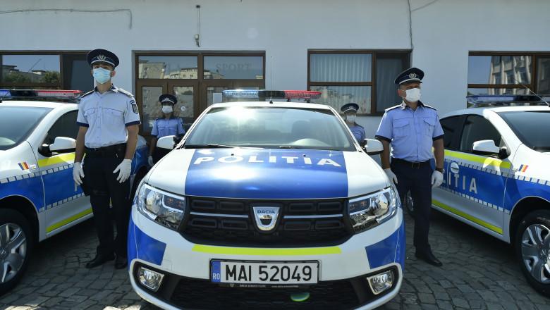 design nou la mașinile Poliției Române