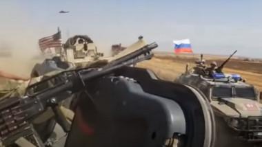ciocnire intre blindate americane si rusești în Siria