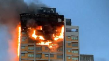 bloc spania incendiu