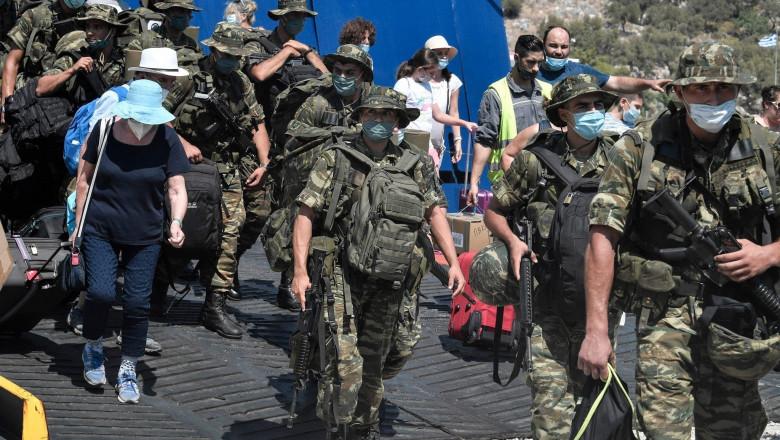 Militari greci în insula Kastelorizo, sursa presa turca