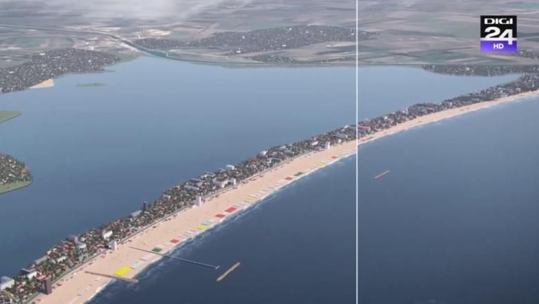 Proiect de lărgire a plajei la Mamaia