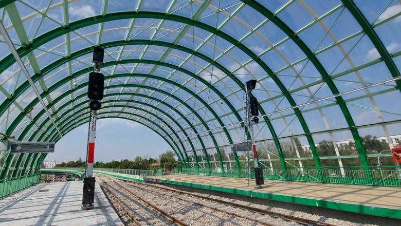 Calea ferată Gara de Nord-Aeroportul Otopeni este gata în proporție de 97%, anunță CFR