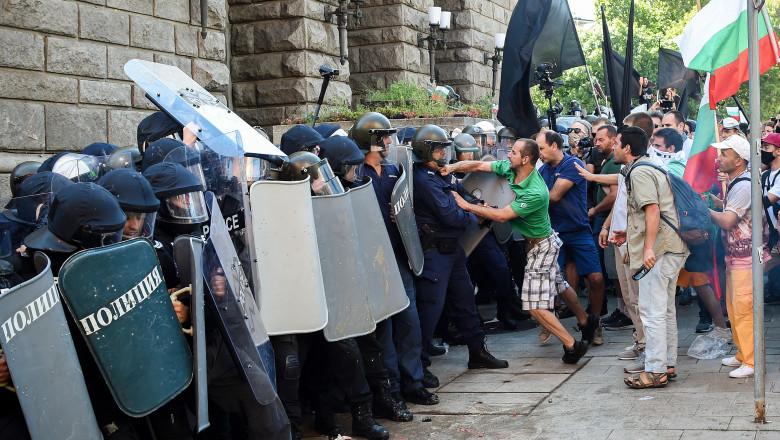 Аn anti-government protest in in Sofia