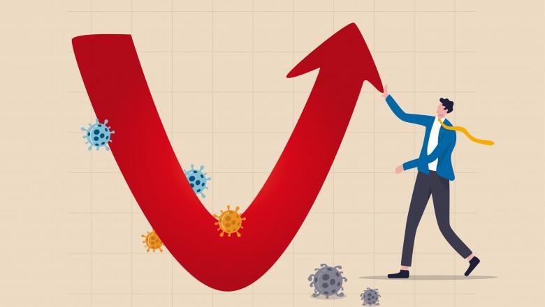 Revenire in V a economiei dupa pandemia de coronavirus