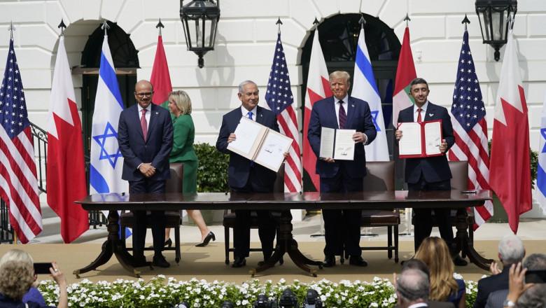 Israel, Emiratele Arabe Unite şi Bahrein semnează la Casa Albă acorduri istorice de normalizare a relaţiilor