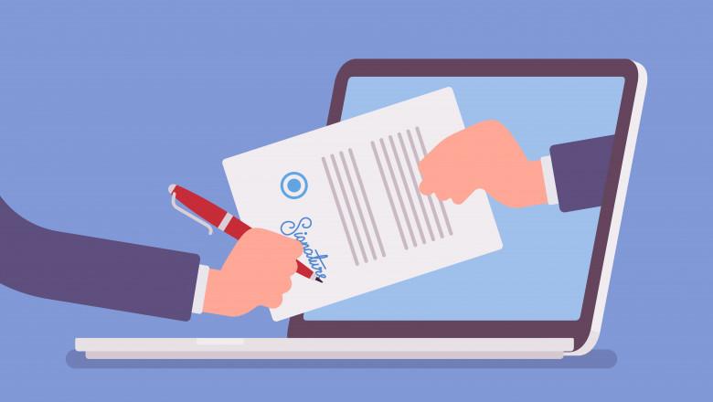 eliberare acte cu semnatura online