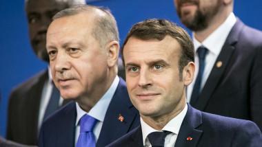 Emmanuel Macron și Recep Tayyip Erdogan