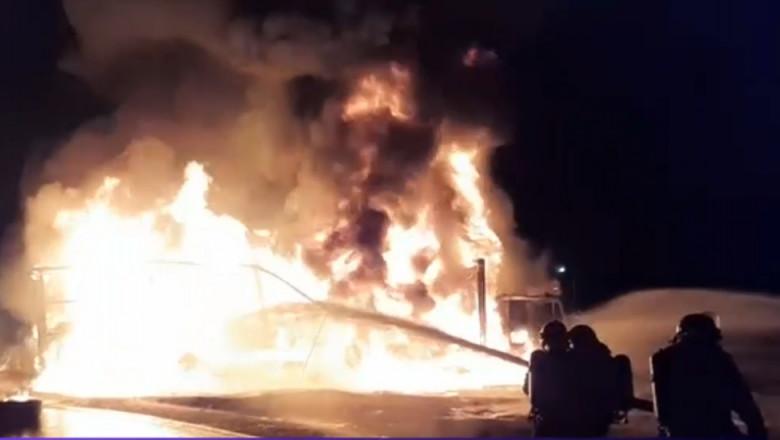 incendiu tir a1- captura