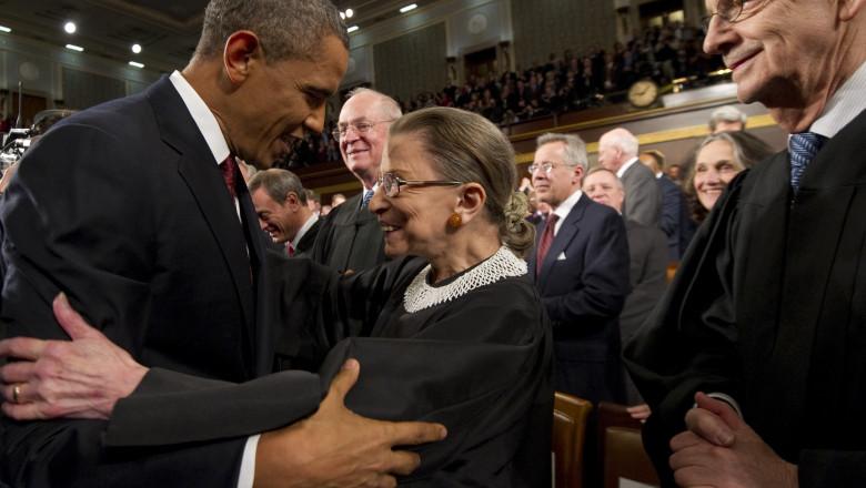 Președintele Obama și judecătoarea SCOTUS Ruth Bade Ginsburg