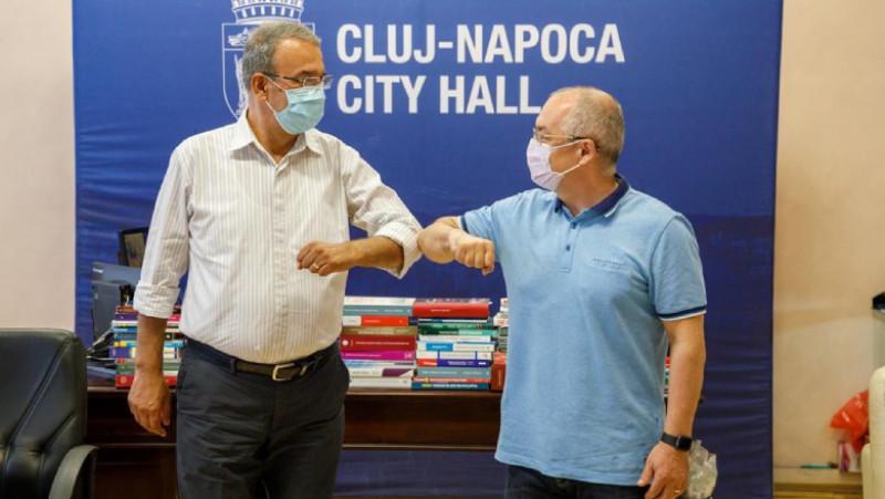 Vergil Chițac - candidatul PNL la primăria Constanța si Emil Boc - candidatul PNL la primăria Cluj-Napoca (1)