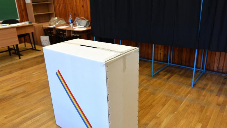 urna de vot intr-o sectie e votare