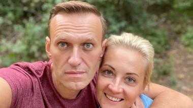 Alexei Navalnii cu sotia
