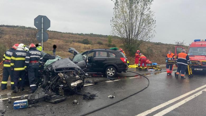 Accident grav soldat cu un deces și 4 răniți, în Sălaj