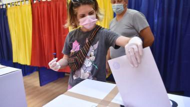 tanara voteaza alegeri locale 2020 agerpres_14056540