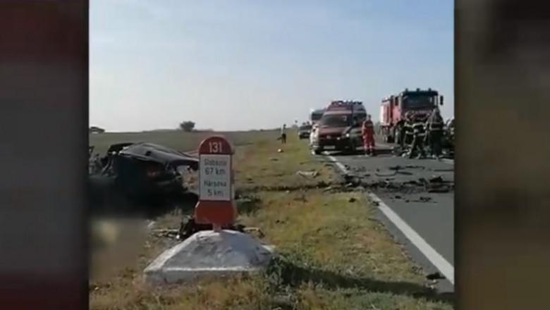 accident cu trei morti la iesirea din harsova