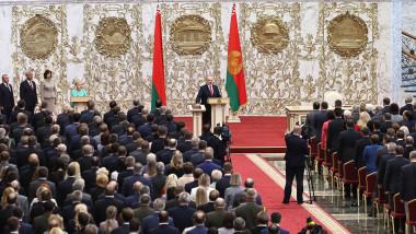 Ceremonia de depunere a juramantului de catre presedintele Aleksandr Lukasenko