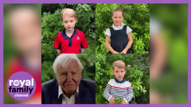 printii george, louis si printesa charlotte in dialog cu david attenborough - captura YT