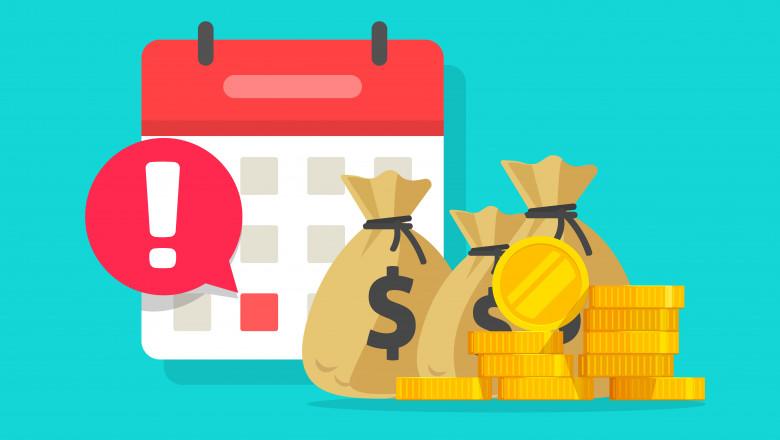 planificare financiara bani calendar