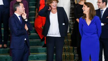 fotografie cu noul guvern belgian